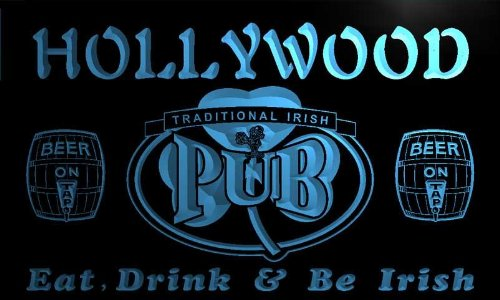 ネオンプレート サイン 電飾 看板 カフェ バー pa2225-b Hollywood Irish Shamrock Home Pub Bar Beer Neon Light Sign ADV PRO