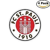 FC ST PAULI Germany Football Soccer Carバンパーステッカーデカール4x 4