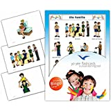 Family Flashcards in German Language - Flash Cards with Matching Bingo Game for Toddlers, Kids, Children and Adults - Size 4.13 × 5.83 in - DIN A6