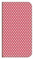 ガールズネオ SAMURAI 雅 FTJ152C Miyabi スライド 手帳型ケース (ドット ホワイト 大 red) FREETEL MIYABI-SL-WZ-WAK-0022