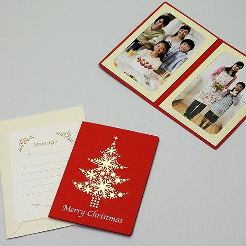 【メッセージも送れるクリスマス写真台紙】ポケット台紙タント『...