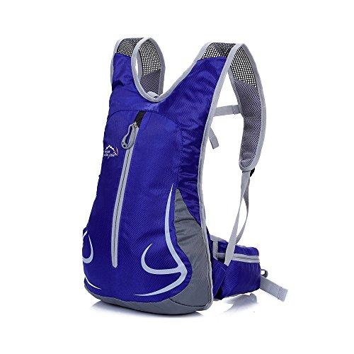 アウトドア サイクリング バックパック 自転車バック パック ランニングバッグ 容量15L 防水 多機能 軽量サイズ (サファイアブルー)