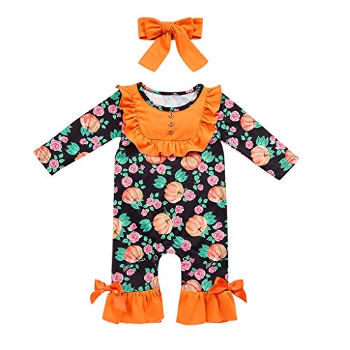 ソビエト縮れたストロークベビー 子供服 ハロウィン セット かぼちゃ ロンパス 悪魔 幽霊 プリント ロングパンツ 男の子 女の子 赤ちゃん服 子供 コスチューム キッズ 柔らかい 可愛い ベビー服 仮装衣装 パーティー 写真 撮影
