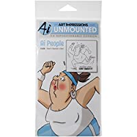 """Art Impressions People Cling Rubber Stamp 7""""X4""""-Don't Sweat It (並行輸入品)"""