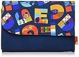 Solby ジャバラ母子手帳ケース/アニマルファベット/ネイビー【仕切りが多く整理しやすく、出し入れ簡単! 】 NZSB107001