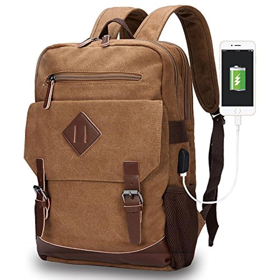 疑問を超えて賞賛するつまらないModoker ラップトップバックパック 旅行 リュックサック ハイキング アウトドア バックパック USB充電ポート