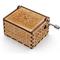 Aveson音楽ボックス、かわいい木製Engravedメカニズム手クランクMusicalボックスギフトforクリスマス/誕生日/バレンタインの日 ホワイト