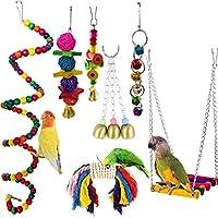 鳥スイングおもちゃ オウムのおもちゃ 鳥のおもちゃ 噛む玩具 止まり木 吊り下げ 7個セット
