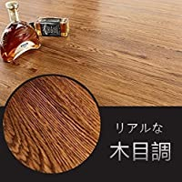 RAIN QUEEN フローリング フロアタイル 36枚セット フローリングシート 床材 木目柄 補修 粘着シート フローリング 床デコ リアルな木目 貼るだけフローリングタイル のり付き(#01)