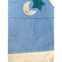 【USA綿】ギフト 赤ちゃん 安眠 星月夜 スターナイト 【柔らかいシャーリング】湯上がりタオル バスタオル おくるみ フード付き  出産祝い