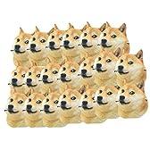 大量 セット 犬 お面 かわいい マスク ひも 付き 柴犬 可愛い 盆踊り ハロウィン パーティー (e 20枚)