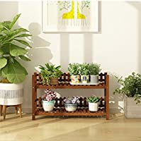 フラワースタンド木製屋内屋外植物スタンドフロア多層フラワーディスプレイスタンドバルコニーリビングルームガーデンダークブラウンフラワースタンド