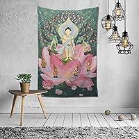 仏教 絵画 タペストリー 壁掛け ポスター 背景布 壁飾り 家 リビングルーム ベッドルーム 部屋 おしゃれ 150*200cm