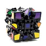 3D歯車 スピードキューブ3x3 ステッカー   立体パズル  スピードキューブ (Luxury EDC Infinity Cube) キューブ  カーボンファイバーステッカー おもちゃ ストレス解消  ADD & ADHD 集中力を向上し 不安を軽減し 知育おもちゃ  (黒色, 3D歯車)