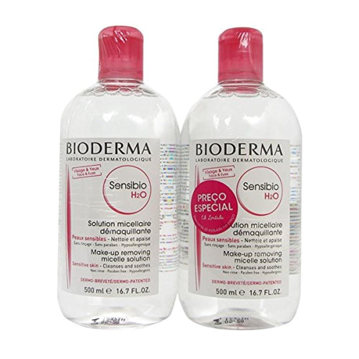 Bioderma Sensibio Pack Crealine H2o Micelle Sollution 2x500ml [並行輸入品]