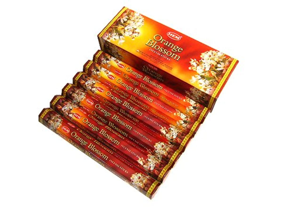 王室変位したがってHEM(ヘム)社 オレンジブロッサム香 スティック ORANGE BLOSSOM 6箱セット