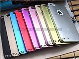 〆【全9色】iPhone6 Plus/iPhone6s Plus対応ハードケース(5.5インチ)(ピンク)|アルミ カバー|appleロゴ見える プラス +(並行輸入品)★ (ピンク)