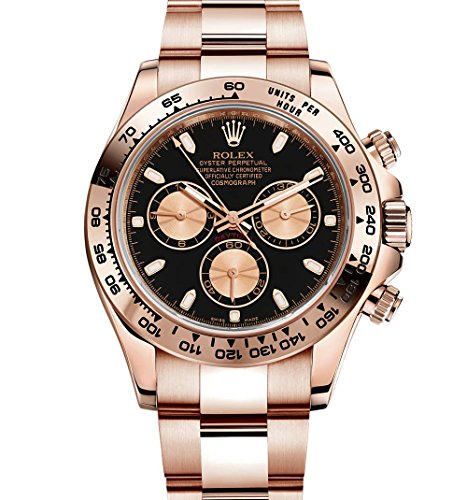 RolexデイトナEverose Gold Watch withブラックダイヤル116505Unworn 2016