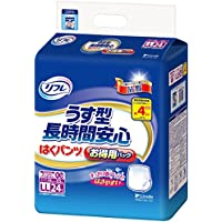 リフレ はくパンツ 長時間安心 4回分吸収 大人 紙おむつ 尿漏れ はきやすい LLサイズ 24枚入