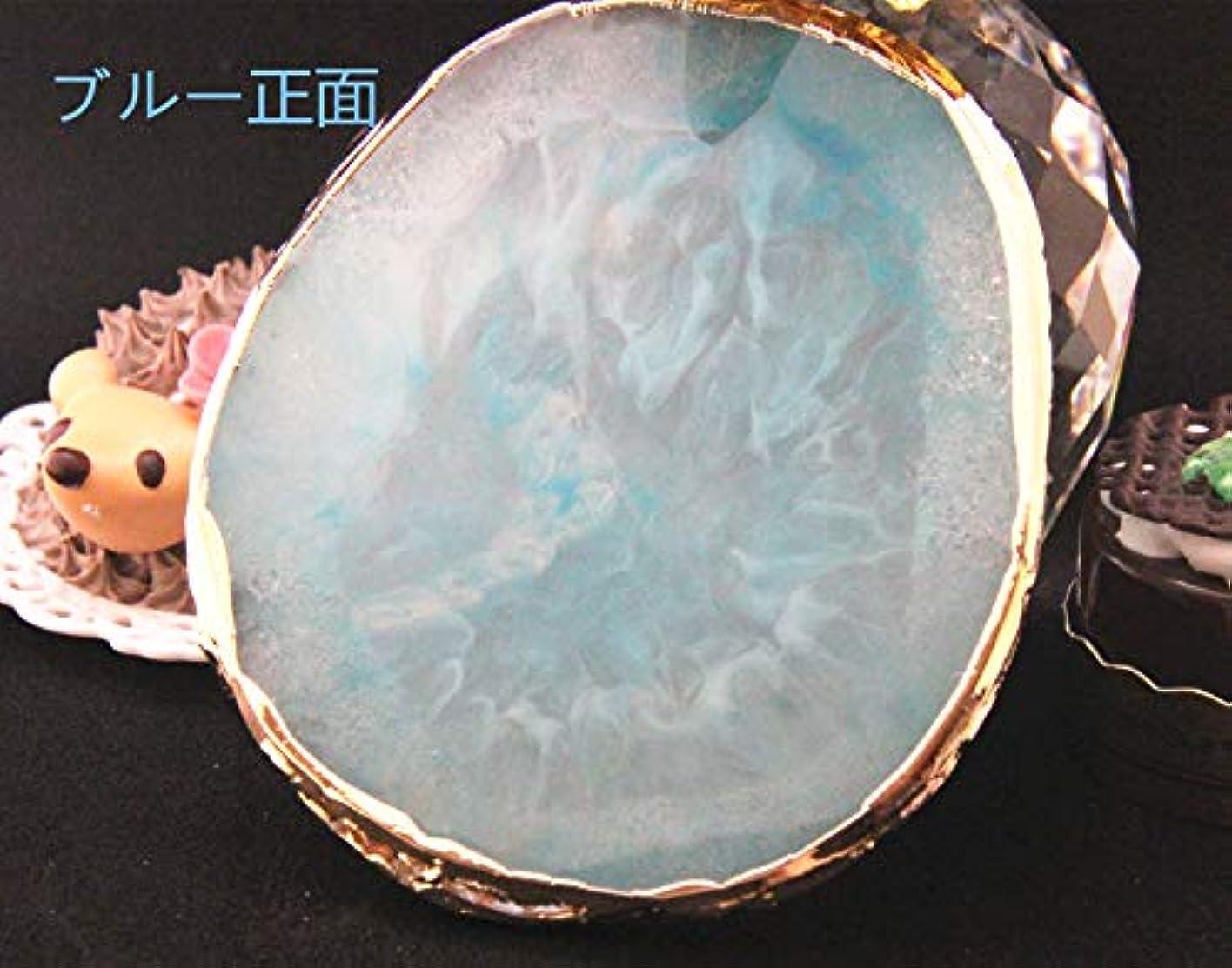 精神迫害現れる003501Glitter Powderジェルネイル ブルー ネイル ジェルネイル パレット プレート ディスプレイ 天然石風 展示用 アゲートプレート デコ アクセサリー ジェルネイル (ブルー)