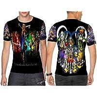 キングダムハーツ メンズトップス Tシャツ ディズニービデオゲームカスタム フルプリント 昇華 サイズ:S~3XL。
