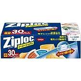 ジップロック イージージッパー スライド式ジッパー付き保存袋 冷凍・解凍用 中 30枚入 (縦17.7cm×横20.3cm)