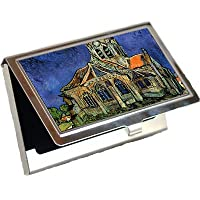 The Church at Auvers by Vincent Van Goghビジネスカードホルダー