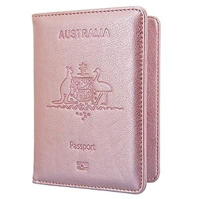 Passport Holder Travel Cover Case - HOTCOOL Leather RFID Blocking Wallet For Passport