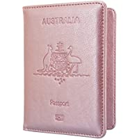 Passport Holder Travel Cover Case - HOTCOOL Leather RFID Blocking Wallet for Passport