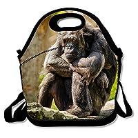 ランチバッグ Lone Chimp保温保冷 弁当バッグ ポケット付き ショルダーベルト