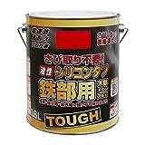 ニッペ 高耐久シリコン樹脂塗料 油性シリコンタフ レッド(赤) 1.6L