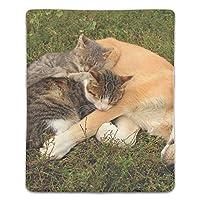 マウスパッド 防水 耐久性が良い 滑り止めゴム底 滑りやすい表面 マウスの精密度を上がる 猫犬友達