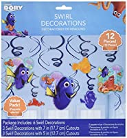 Finding Dory Swirl Decorations (12 Pieces) [並行輸入品]