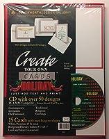 Create Your Own HolidayグリーティングカードStationary–CD 50デザインPC & Mac–Just addテキストと印刷
