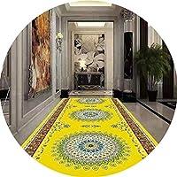 ZHWEI じゅうたん 廊下のカーペットロング ランナー ラグ 滑り止め 廊下敷きカーペッ 通路 エントランス 敷物 フロアマット滑り止め 印刷 階段 ホテル 余分に長い 耐摩耗性、 2色、 カスタマイズ サイズ (Color : B, Size : 1.2x3m)
