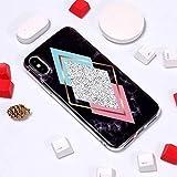 BMY 美しいケース&カバーiPhone XSマックス用大理石柄TPUソフト保護ケース(サイズ:Ip9p0035ac)