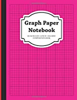 Graph Paper Notebook: Quad Ruled 1/4 inch 4x4 Grid Composition Book (Red stripe Notebooks)