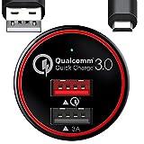 BC Master カーチャージャー 急速充電 USB車載充電器 34.5W 2ポート QC3.0 5V/3A Android CQ01