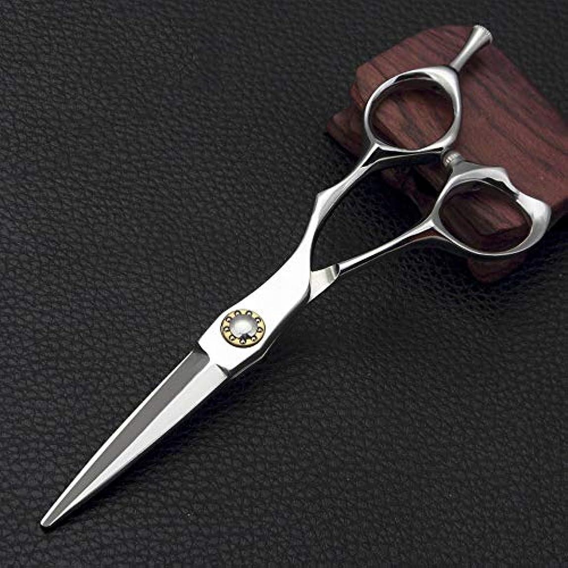 いちゃつくアンティークサスティーン理髪用はさみ 5.5インチの専門のバリカン、平らな散髪のはさみの毛の切断はさみのステンレス製の理髪師のはさみ (色 : Silver)
