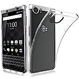 BlackBerry KEYone ケース MaxKu ソフト クリア 耐衝撃 薄型 軽量 透明 カバー TPU ケース (クリア)