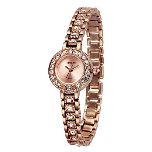 Time100 素敵なブレスレット 腕時計 レディース ダイヤモンド レディースウォッチ W50145L.03A (ピンクゴールド)
