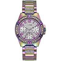 GUESS Women's Analog Watch with Stainless Steel Strap, Purple, 22 (Model: GW0044L1)