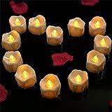 Best フレイムレスキャンドル - パーティー/結婚式/誕生日用 LEDキャンドル ティーライトキャンドル フレームレス  LED 蝋燭  12 pcs Review