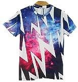 16種類 4サイズ 前衛芸術 美術 クレイジー おもしろ 3D プリント アート Tシャツ (タイプ03/Mサイズ)