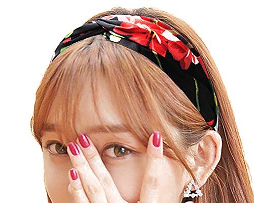 [해외]머리띠 헤어 밴드 헤어 액세서리 여성 인기의 꽃 무늬 품위 머리 장식/Headband hair band hair accessory ladies popular floral prints elegant hair ornament