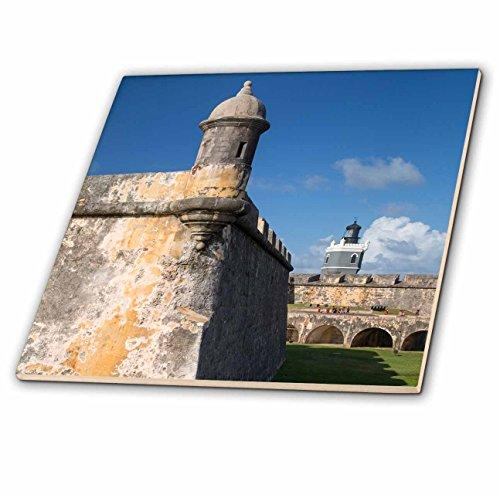Danita Delimont––要塞A Garita、Sentryボックス、Fortress El Morro、古い町、プエルトリコ–タイル 4-Inch-Ceramic ct_226585_1