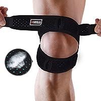 膝サポーター 膝蓋骨サポーター 膝バンド 調節可能 傷害予防 膝固定 ネオプレン フリーサイズ 男女兼用 1個