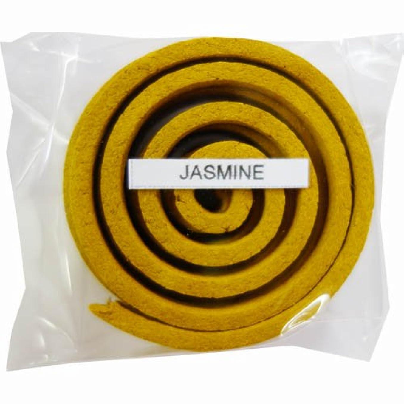 警報珍しい雑草お香/うずまき香 JASMINE ジャスミン 直径5cm×5巻セット [並行輸入品]