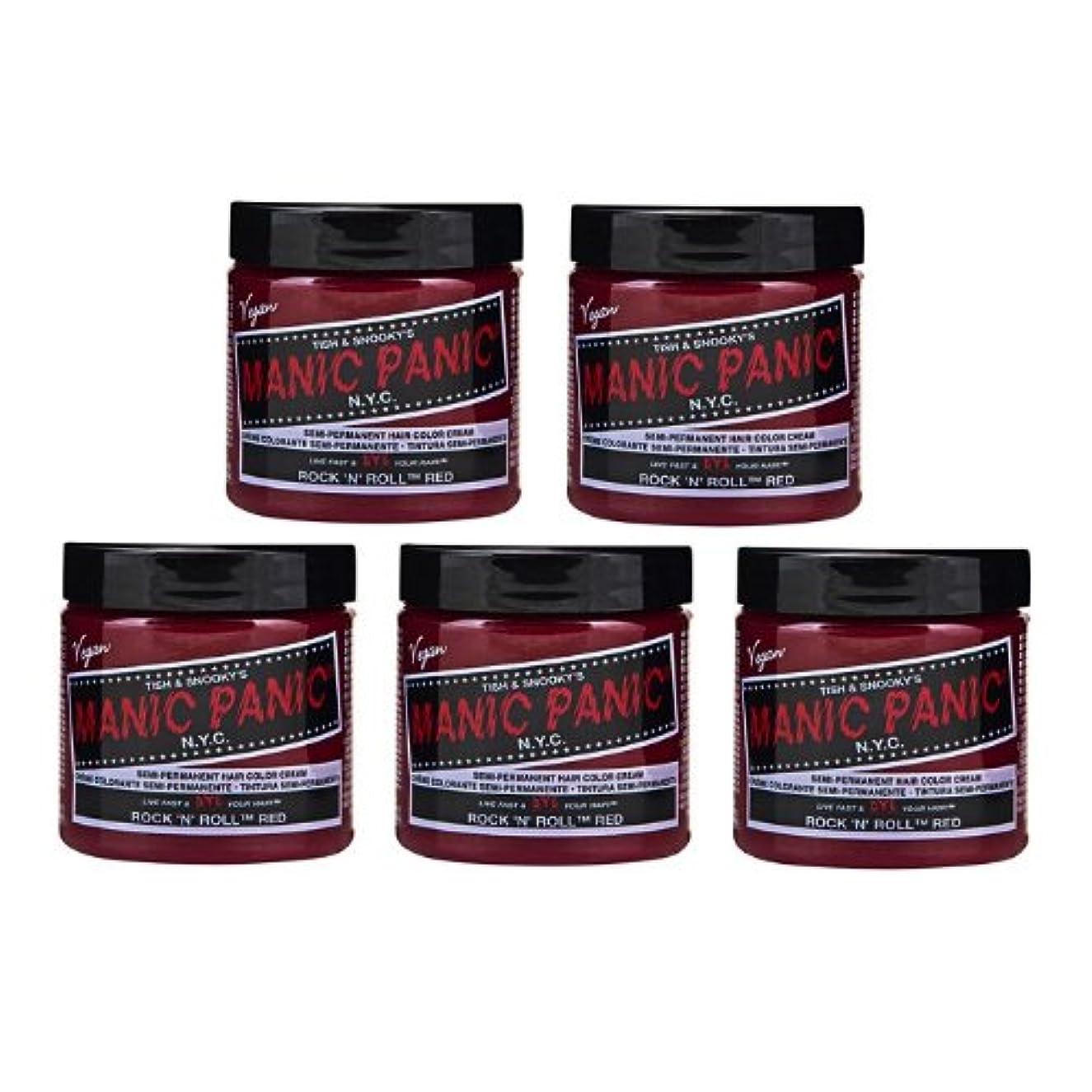 適用済みエンゲージメント中級【5個セット】MANIC PANIC マニックパニック Rock'n'Roll Red ロックンロールレッド 118ml