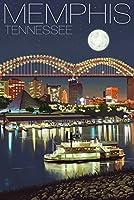 メンフィス、テネシー州–メンフィスSkyline at Night 24 x 36 Giclee Print LANT-43769-24x36